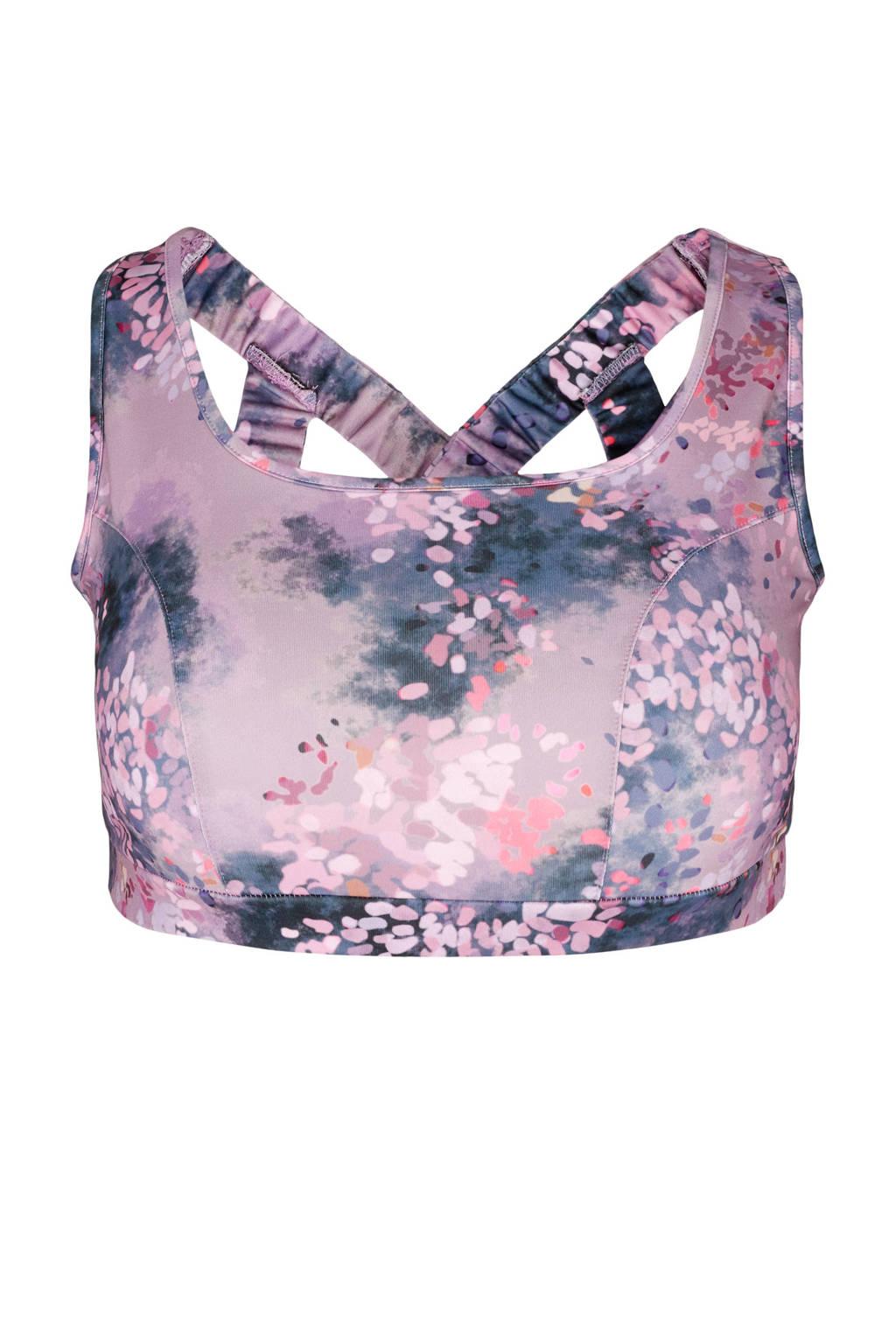 ACTIVE By Zizzi Plus Size sportbh level 3 roze, Roze