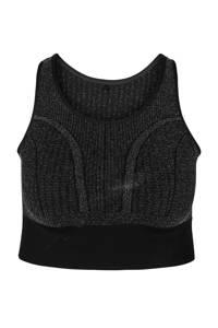ACTIVE By Zizzi level 3 Plus Size sportbh zwart/zilver, Zwart/zilver