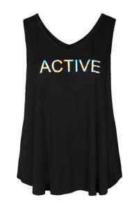 ACTIVE By Zizzi sporttop zwart, Zwart
