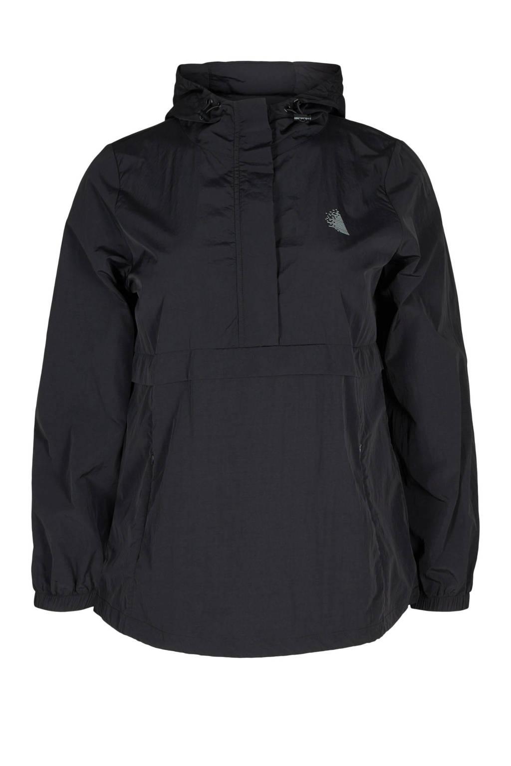 ACTIVE By Zizzi Plus Size sportjack zwart, Zwart