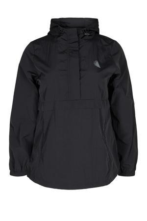 Plus Size sportjack zwart