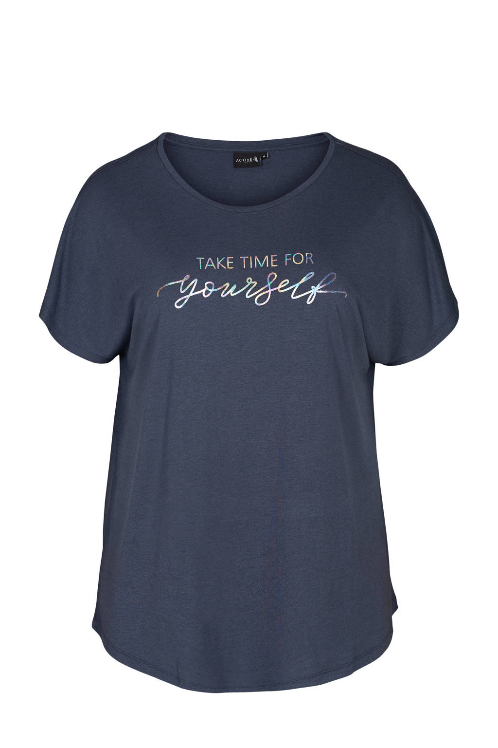 ACTIVE By Zizzi Plus Size sport T-shirt donkerblauw, Donkerblauw