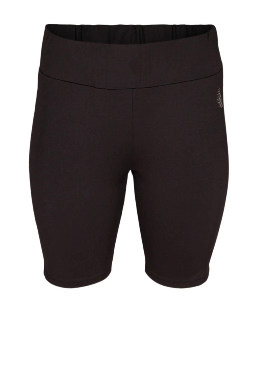 ACTIVE By Zizzi Plus Size sportshort zwart, Zwart