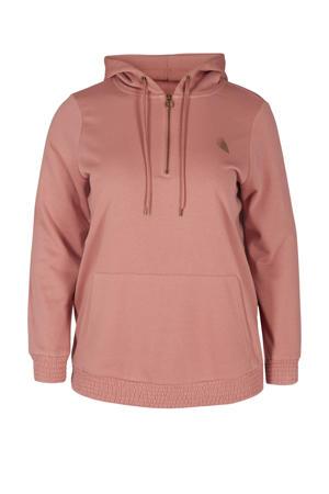 Plus Size sportsweater oudroze