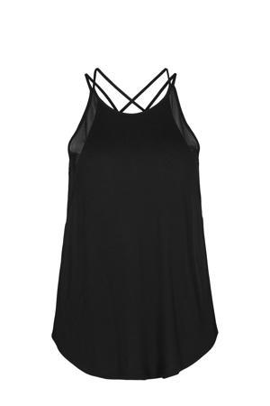 Plus Size sporttop zwart