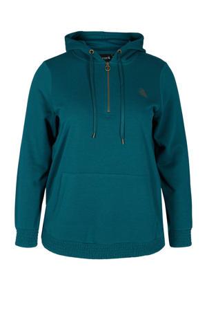 Plus Size sportsweater groen