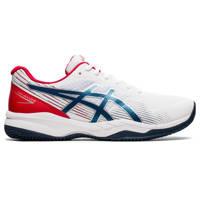 ASICS Gell- Game 8 Clays/OG tennisschoenen wit/blauw/rood, Wit/blauw/rood