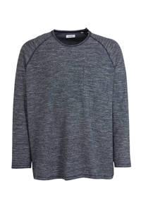 JACK & JONES PLUS SIZE gemêleerde sweater Eterry donkerblauw, Donkerblauw
