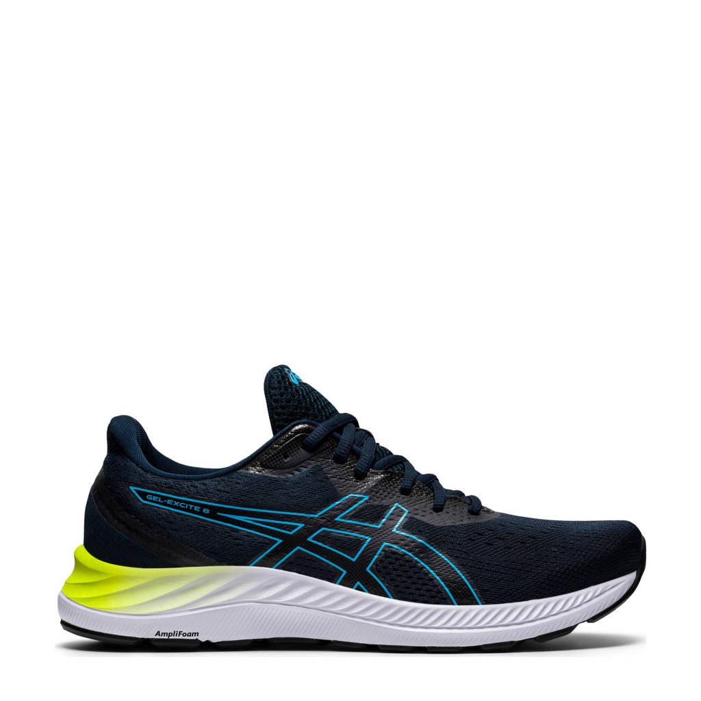 ASICS Gel-Excite 8 hardloopschoenen donkerblauw/blauw/geel, Donkerblauw/blauw/geel