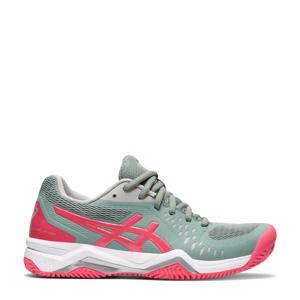 Gel-Challenger 12 Clay tennisschoenen groengrijs/roze