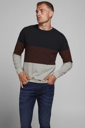 trui donkerblauw/donkerrood/grijs