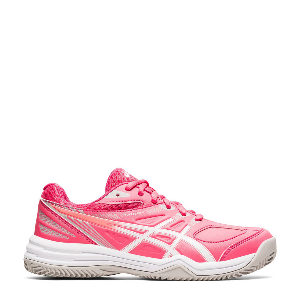 ASICS Court Slide 2 Clay tennisschoenen roze/wit, Roze/wit