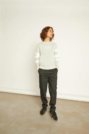 sweater Devival met tekst grijs