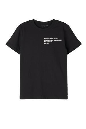 T-shirt Victor van biologisch katoen zwart/wit