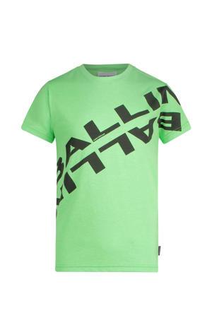 T-shirt met logo neon groen