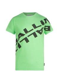 Ballin unisex T-shirt met logo neon groen, Neon groen