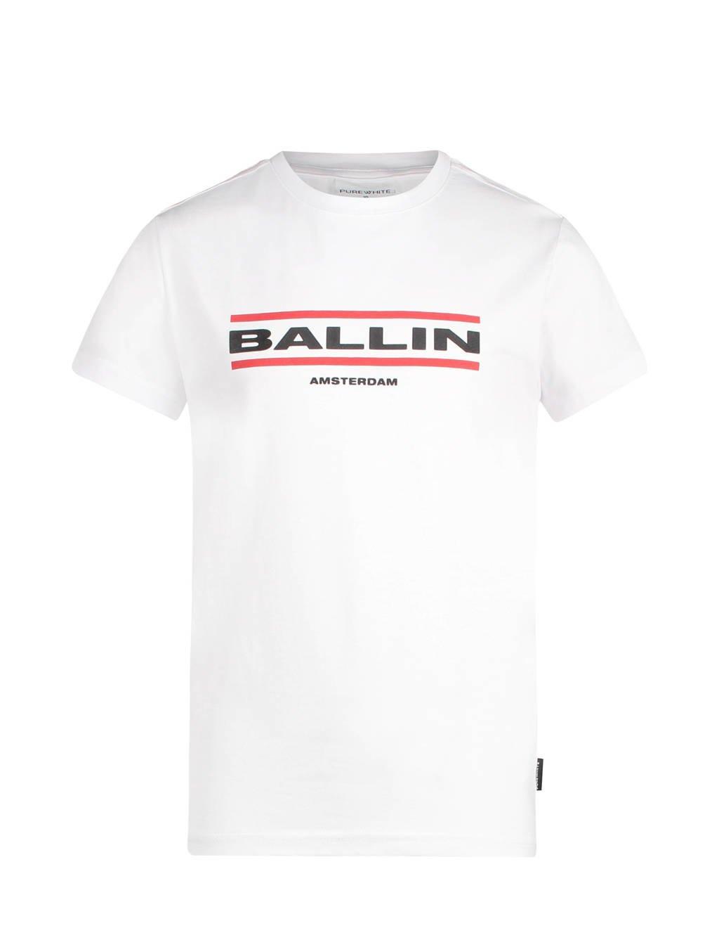 Ballin unisex T-shirt met logo wit, Wit