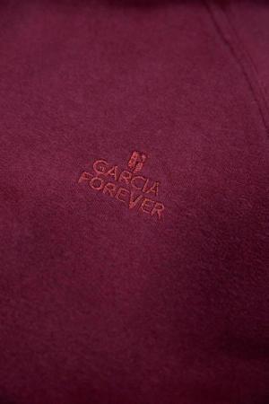 hoodie met borduursels donkerrood