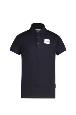 polo met logo donkerblauw