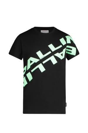 unisex T-shirt met logo zwart