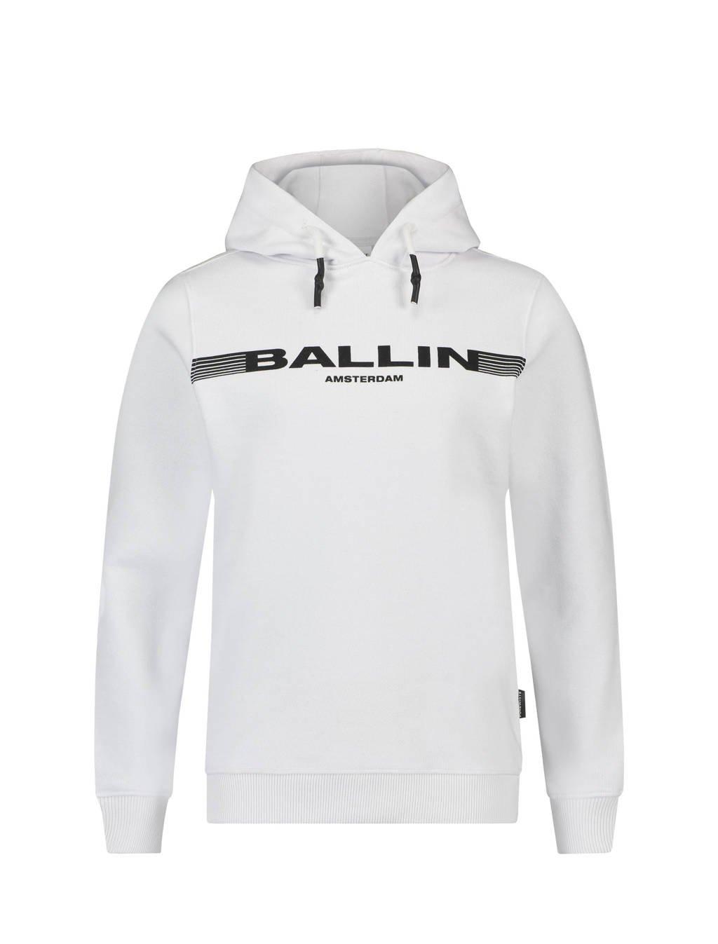 Ballin hoodie met logo wit, Wit