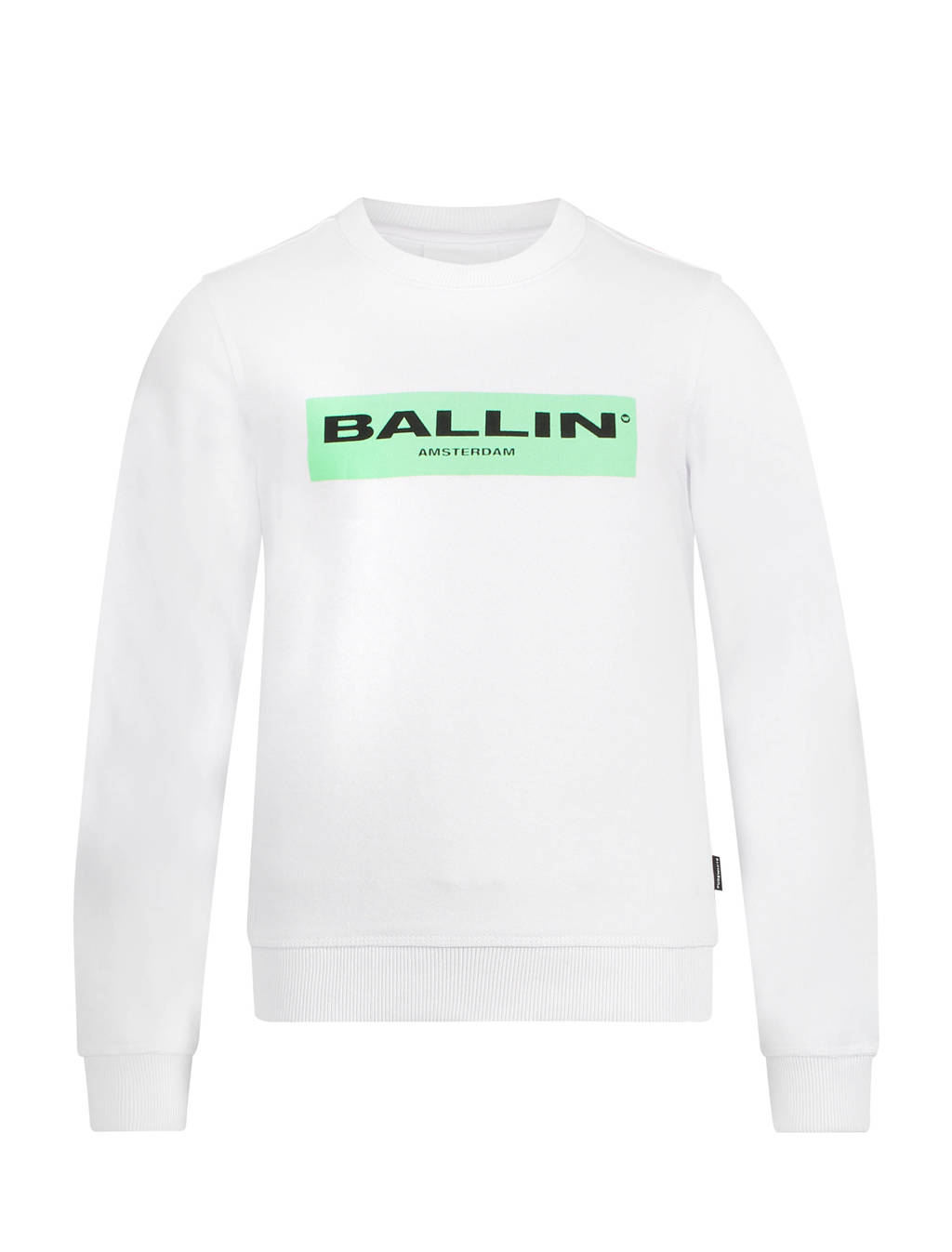 Ballin sweater met logo wit, Wit