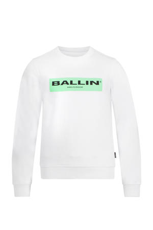 sweater met logo wit