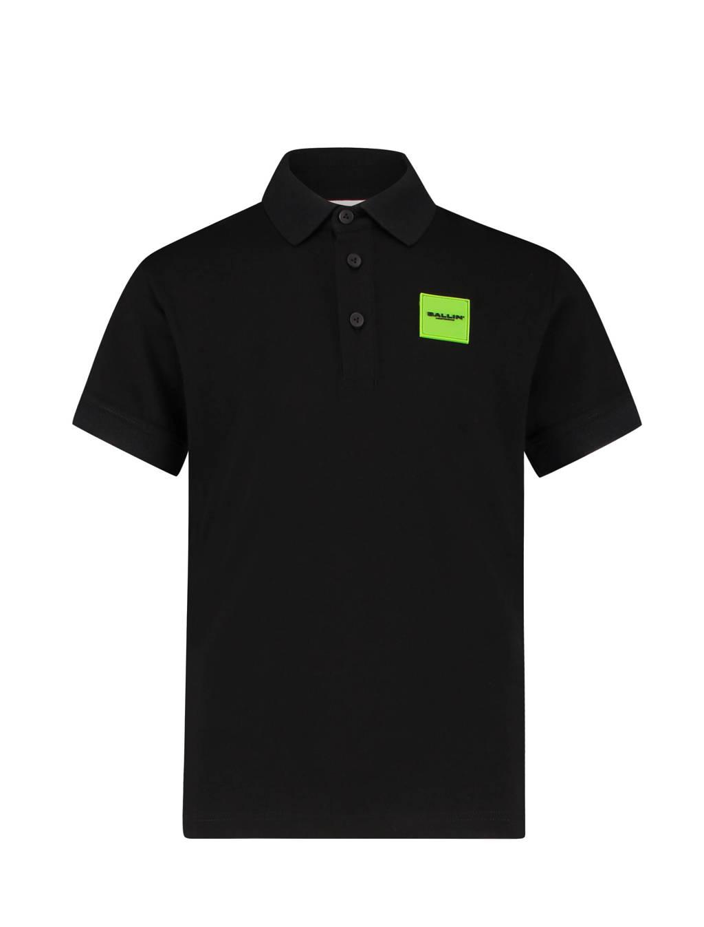 Ballin polo met logo zwart, Zwart