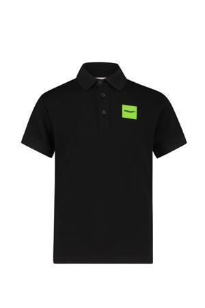 polo met logo zwart