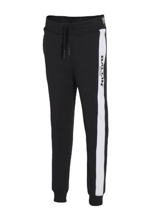 skinny broek met logo zwart