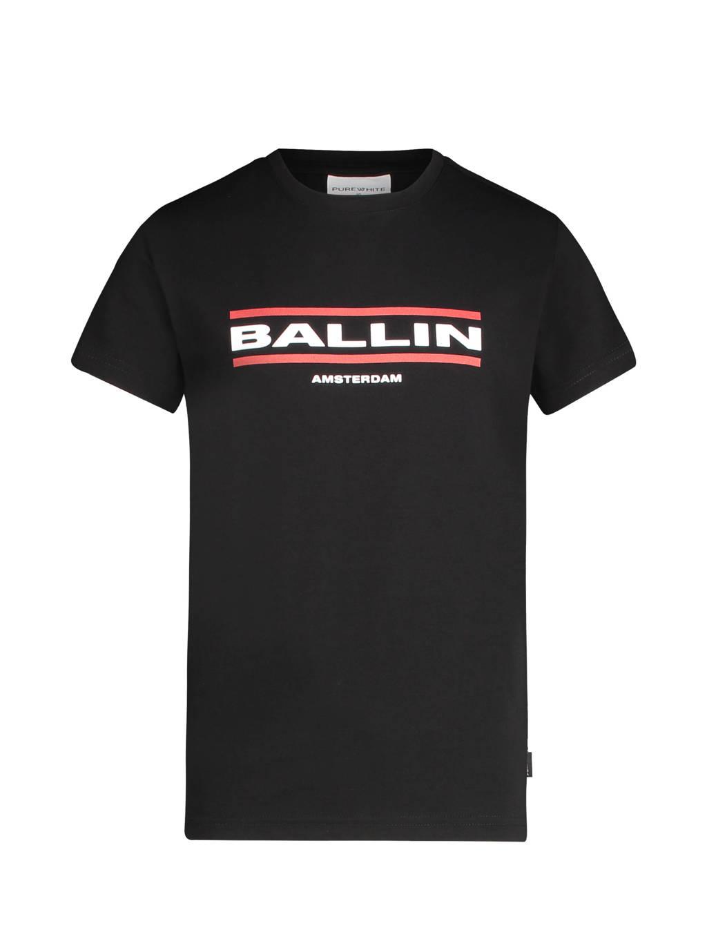 Ballin unisex T-shirt met logo zwart, Zwart