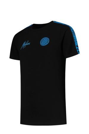 T-shirt zwart/blauw