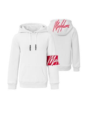 hoodie wit/rood