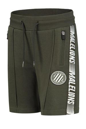 sweatshort army groen/wit