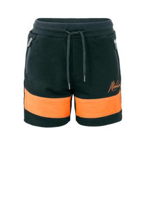 sweatshort antraciet/oranje