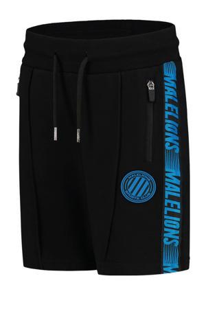 sweatshort zwart/blauw