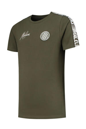 T-shirt army groen/wit