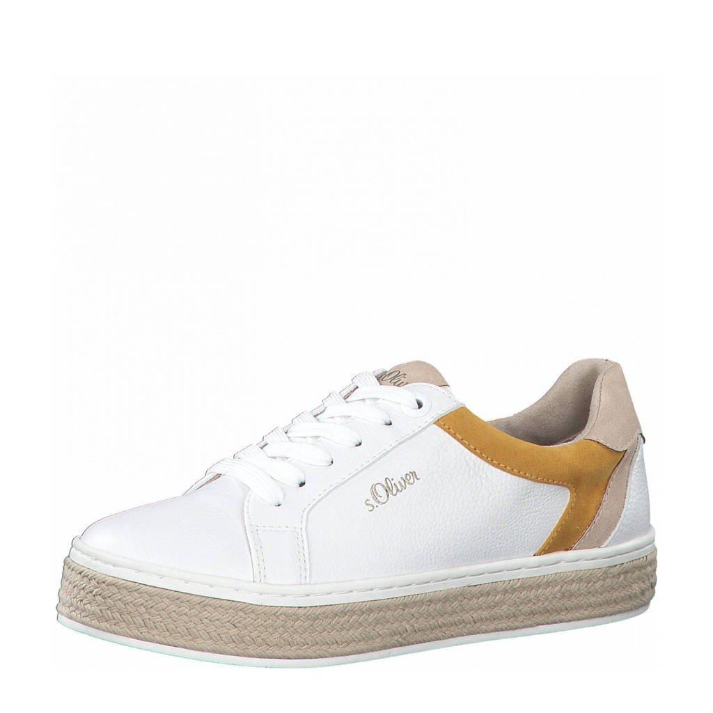 s.Oliver Dalila  sneakers wit/bruin, Wit/bruin