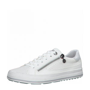 Regan  sneakers met slangenprint wit