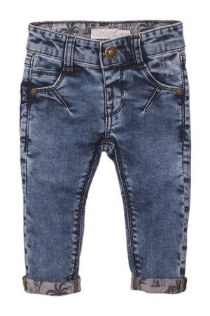 slim fit jeans stonewashed blauw