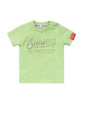 T-shirt met tekst limegroen