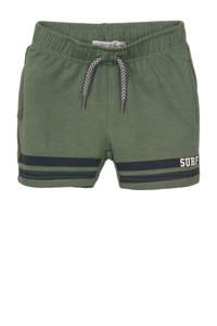 Dirkje regular fit sweatshort groen, Groen