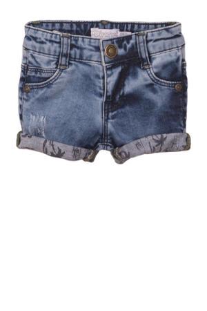 slim fit jeans bermuda blauw