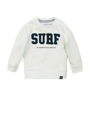 sweater met tekst lichtgroen