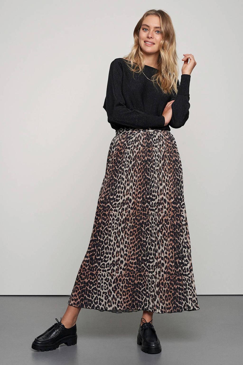 Catwalk Junkie rok Wild Leopard met panterprint bruin/beige/zwart, Bruin/beige/zwart