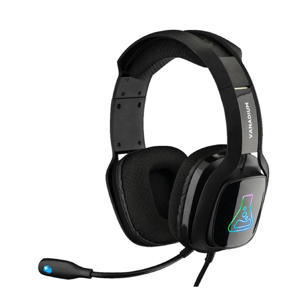 The G-Lab  Korp Vanadium gaming headset, Zwart