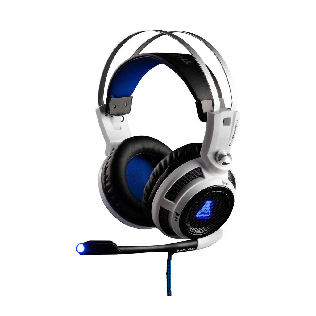 The G-Lab  Korp 200 gaming headset PC/PS4/Xbox, Wit