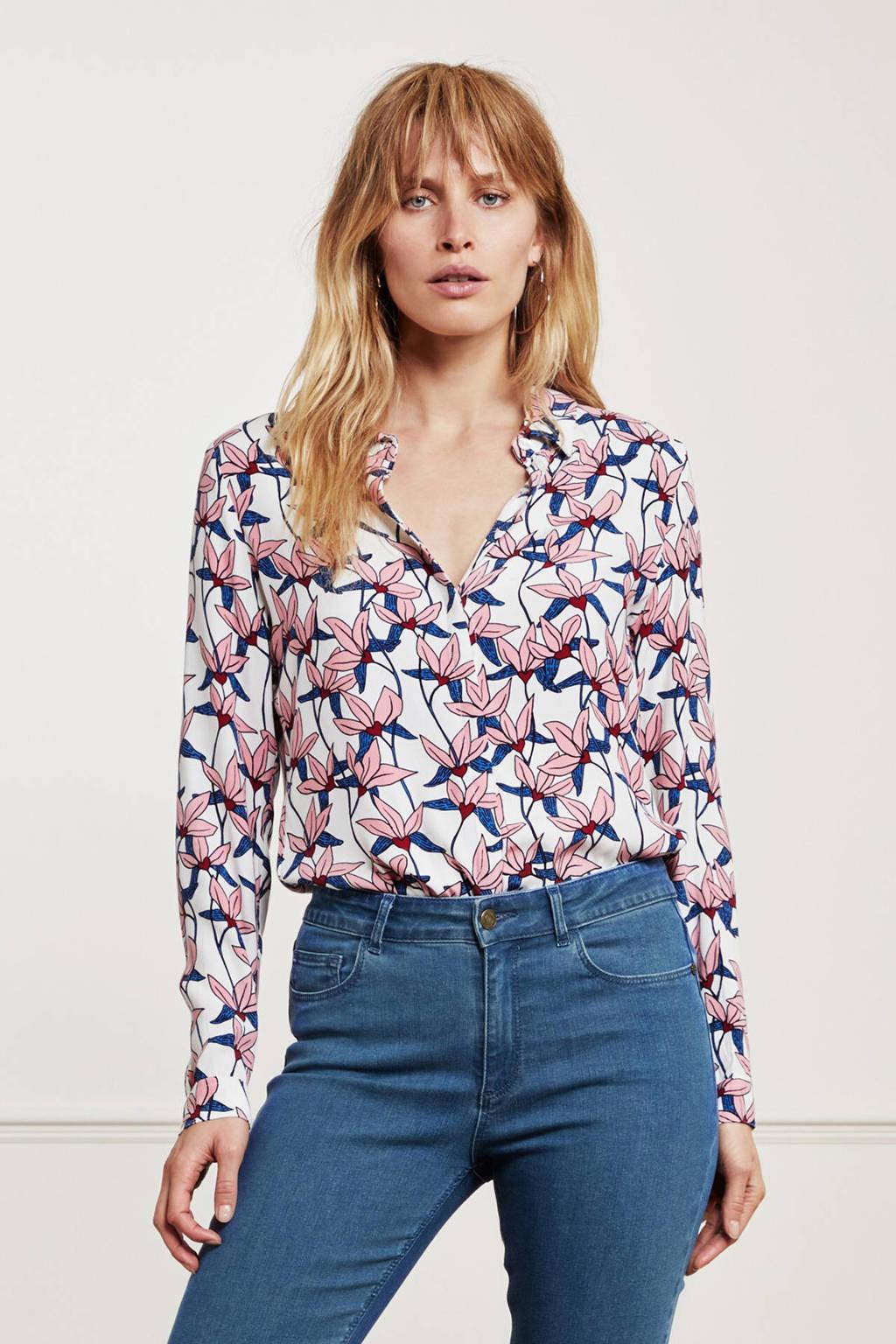 Fabienne Chapot gebloemde blouse Perfect roze, Roze