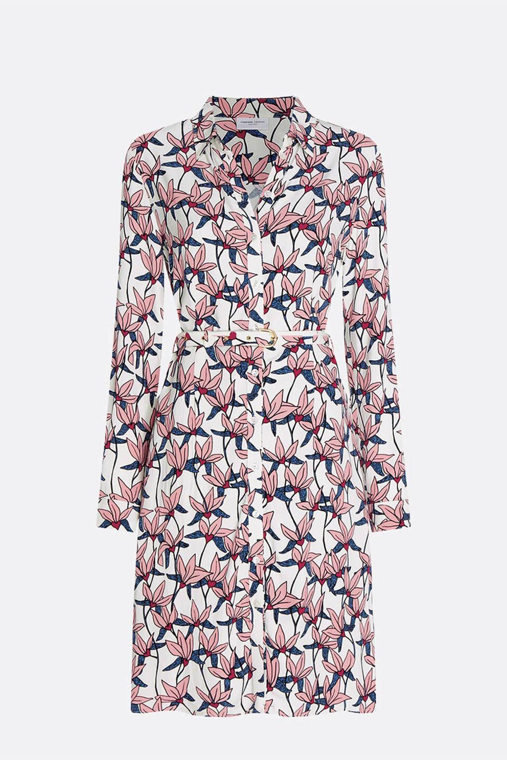 Fabienne Chapot gebloemde blousejurk Hayley roze, Roze