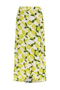 Fabienne Chapot rok Cora met all over print geel/ groen, Geel/ groen